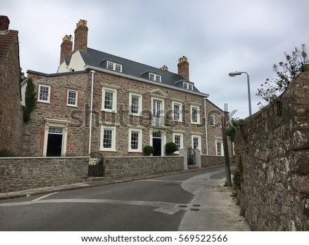 town of st anne alderney british channel islands europe ez canvas