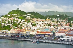 Town of St George's in Grenada, a caribbean island, West Indies