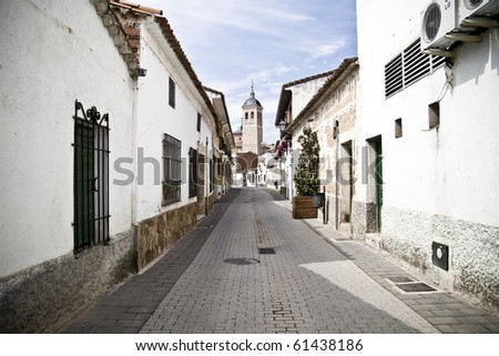 Town of white houses, typical Spanish architecture
