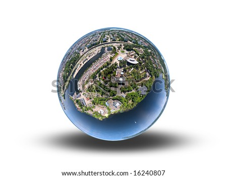 Town on a sphere