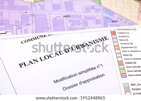 Town planning and land use planning - Local town planning plan - simplified modification - Approval file