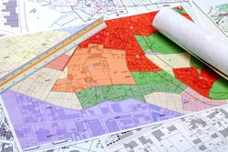 Town planning - Land use planning - Local town planning and cadastre maps