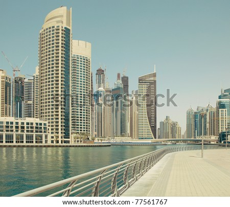 Town scape at summer. Panoramic scene,