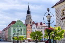 Town square of Boleslawiec - Poland