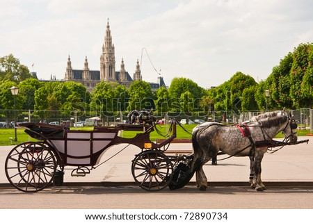 Townhall in Vienna, Austria - stock photo