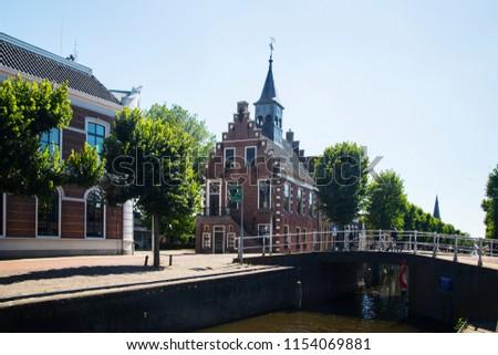 Townhall of Dutch village Balk, Friesland Stockfoto ©
