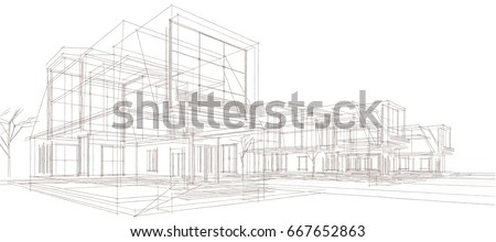 townhouse  3d illustration