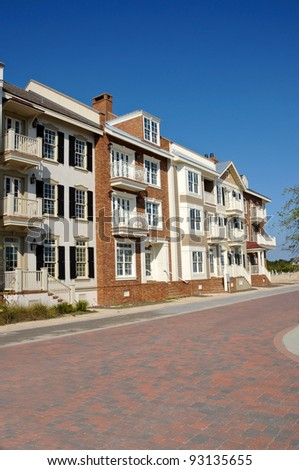 Townhouses - stock photo