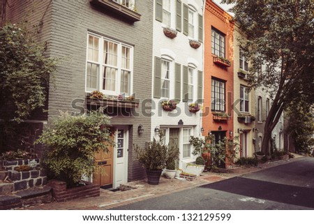 Townhouses In Georgetown, Washington DC