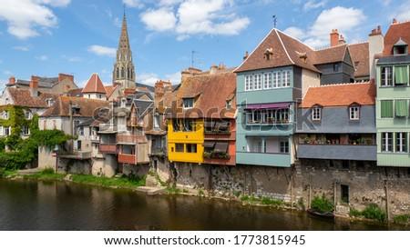 townscape in Argenton sur Creuse, France Photo stock ©