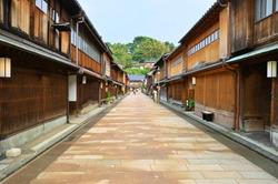 Townscape of Chaya Town in Kanazawa City, Ishikawa Prefecture