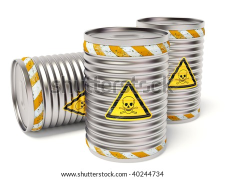 toxic barrel on white background