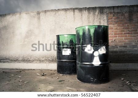 toxic drum barrel spilled it hazardous content