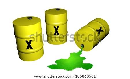 toxic waste barrels 3d