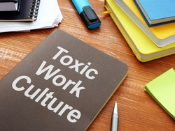 Toxic Work Culture is shown on the business photo