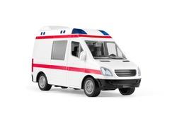 toy ambulances isolated on white
