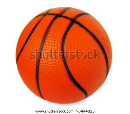 Toy basketball isolated on white