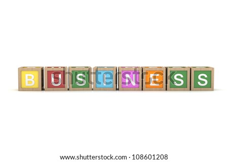 Toy Block with Business Word