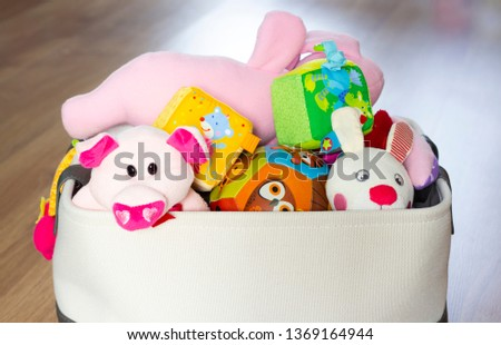 Toy Box full of soft toys #1369164944