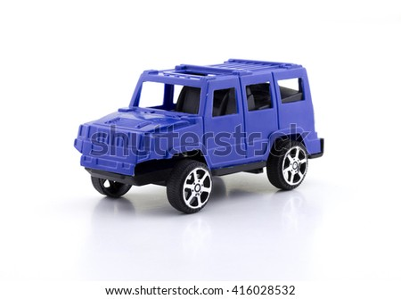 Toy Car Isolated On White Background Ez Canvas