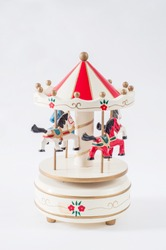 toy carousel with white background.