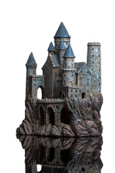 toy castle on white background