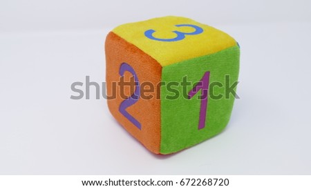 Toy dice with numbers #672268720