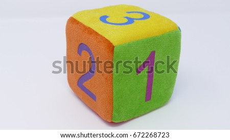 Toy dice with numbers #672268723