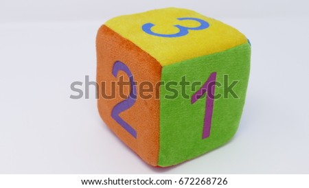 Toy dice with numbers #672268726