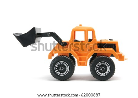 Toy Earth Mover on White Background