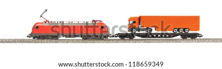 toy Electic Locomotive isolated over white background
