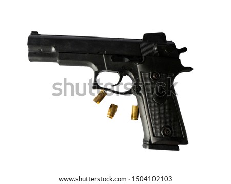 Toy guns and ammunition guns for practice in the training field