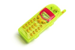 Toy Mobile Phone on White Background