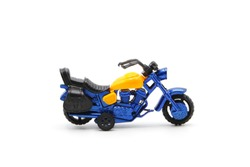 toy motorbike on white background.