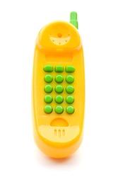 Toy Phone on Isolated White Background