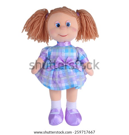 Shutterstock toy rag doll isolated on white background