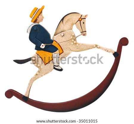 toy Rocking horse with boy
