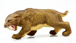 toy saber-toothed tiger