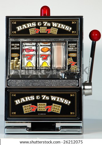 Toy Slot Machine Spinning