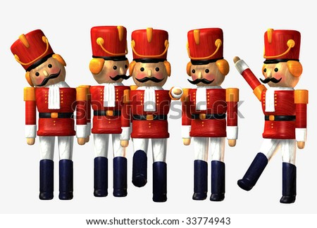 Toy Soldiers on white background