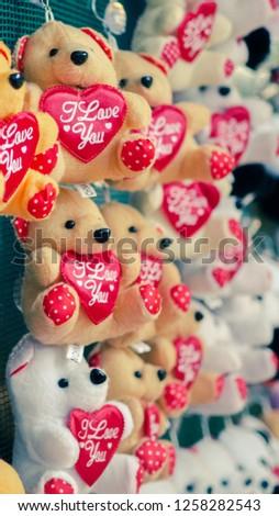 Toy Teddy Love Heart #1258282543