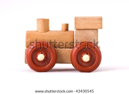 Toy train isolated on a white background