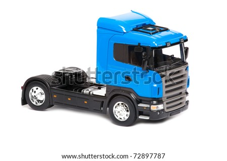 toy truck isolated over white background