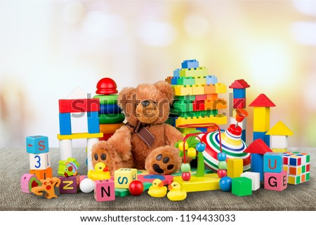 Toys collection isolated on  background #1194433033