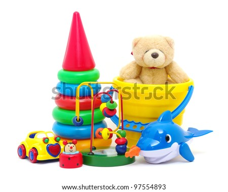 toys collection isolated on white background #97554893