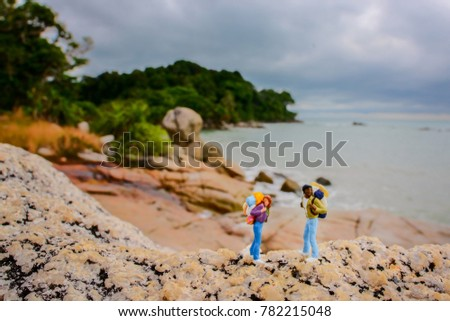 Toys, Figure backpacker, figure travelers, #782215048