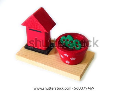 Toys made of wood white background #560379469