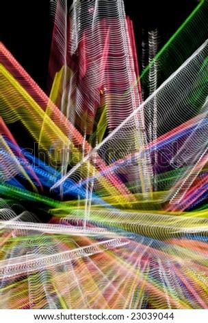 Traces of street illumination.