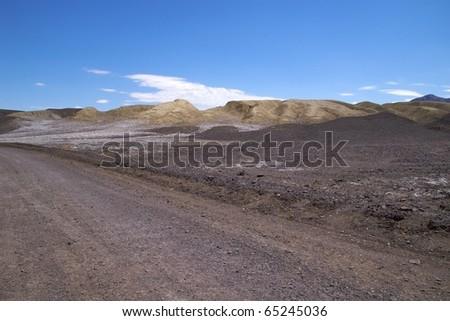 Track along Devil's Golf Course, Death Valley National Park