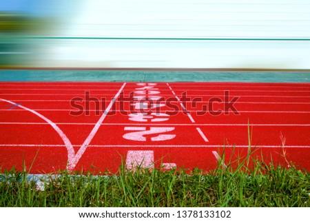 track filed, running, Athlete Track or Running Track , running track, red lane sport
